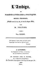 L'Ambigu: ou Variétés littéraires, et politiques, Volume34