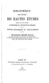 Bibliothèque de l'École des hautes études: Sciences historiques et philologiques, Volume145