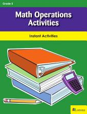 Math Operations Activities: Instant Activities