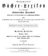 Allgemeines Bücher-Lexikon: Bd. 1816-21. Hrsg. von C. G. Kayser 1822