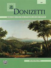 Donizetti: Vocal Collection for Low Voice