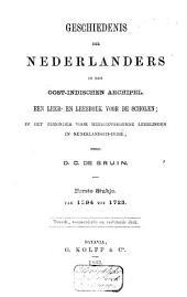 Geschiedenis der Nederlanders in den Oost-Indischen Archipel: een leer- en leesboek voor de scholen; in het bijzonder voor meergevorderde leerlingen in Nederlandsch-Indië