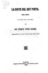 La Corte del Rey Poeta: drama original en cuatro actos y en verso