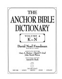 The Anchor Bible Dictionary: K-N