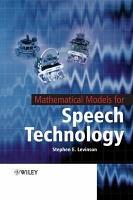 Mathematical Models for Speech Technology PDF