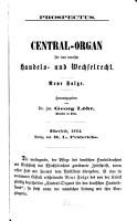 Central Organ f  r das deutsche Handels  und Wechselrecht PDF