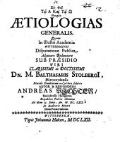 Theoria aetiologias generalis
