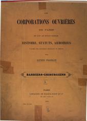 Les corporations ouvrières de Paris du XIIe au XVIIIe siècle