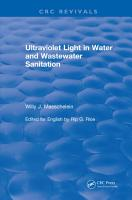 Ultraviolet Light in Water and Wastewater Sanitation  2002  PDF