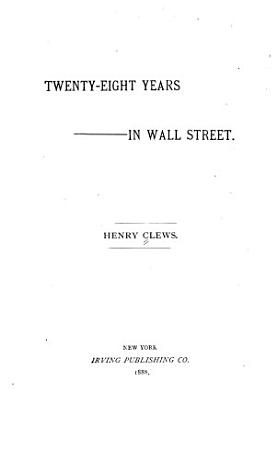 Twenty eight Years in Wall Street PDF