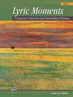 Lyric Moments, Book 3