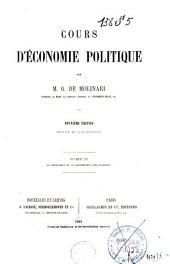Cours d'économie politique, professé au Musée royal de l'industrie Belge: Volume2