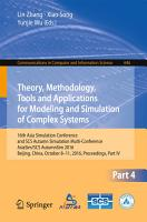 Theory  Methodology  Tools and Applications for Modeling and Simulation of Complex Systems PDF