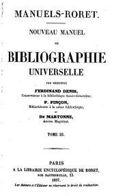 Nouveau manuel de bibliographie universelle: Volume3