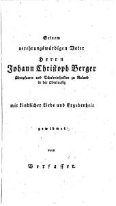 Geschichte der Religionsphilosophie oder Lehren und Meinungen der originellsten Denker aller Zeiten über Gott und Religion