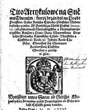 Tito Artykulowe (Artykule) na Snemu Obecnijm ... na Hrade Prazskem