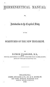 Hermeneutical Manual
