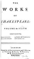 Coriolanus   Julius Caesar   Antony and Cleopatra   Cymbeline PDF
