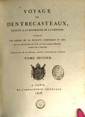 Voyage de Dentrecasteaux, envoyé à la recherche de La Pérouse ...
