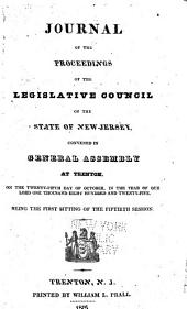 Journal of the Proceedings of the Legislative-Council of the State of New-Jersey: Volume 50