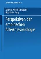 Perspektiven der empirischen Alter n ssoziologie PDF