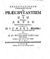 De Praecipitantium vero usu feroque abusu. Exerc. therapeutica. (Resp. Joa. -Wilhelmo Pauli.)- Lipsiae, J. Brand (1681.)