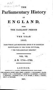 Cobbett's Parliamentary History of England: Volume 7