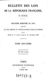 Bulletin des lois de la Republique Francaise: Volume10;Volume1842;Volume1848