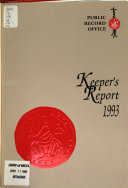 Annual Report of the Keeper of Public Records on the Work of the Public Record Office and the Report of the Advisory Council on Public Records PDF