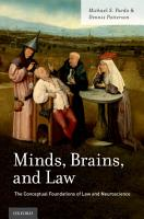 Minds  Brains  and Law PDF