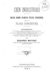 Cien industrias: notas sobre plantas útiles escogidas de la flora correntina