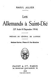 Les Allemands à Saint-Dié (27 août-10 septembre 1914)