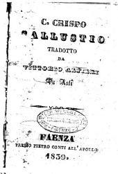 Caio Crispo Sallustio tradotto da Vittorio Alfieri da Asti