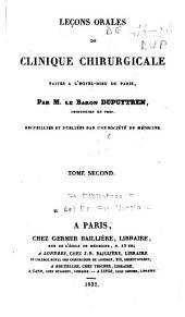 Leçons orales de clinique chirurgicale faites a l'Hôtel-Dieu de Paris: Volume2