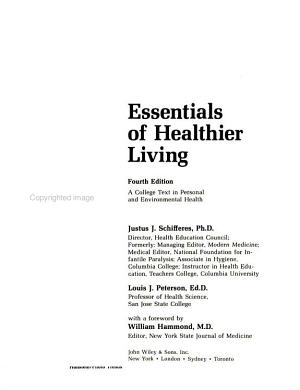 Essentials of Healthier Living PDF