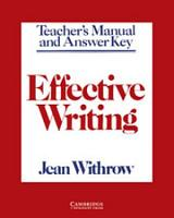 Effective Writing Teacher s Manual PDF