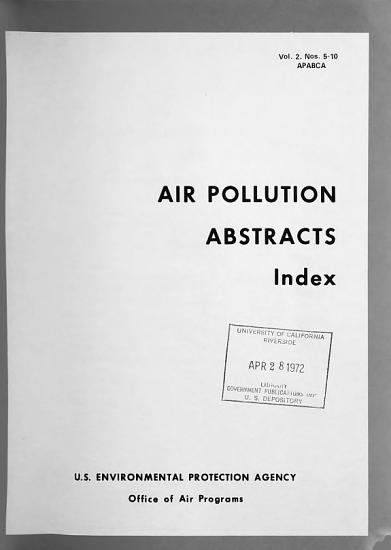 Air Pollution Abstracts PDF