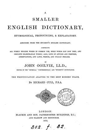 A smaller English dictionary