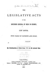 A Collection of the Acts of the Central Legislature and Ordinances of the Governor General: Volume 15