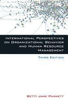 International Perspectives on Organizational Behavior and Human Resource Management PDF