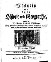 Magazin für die neue Historie und Geographie, angelegt von A.F. Büsching