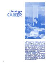 Working toward a better environment: career choices
