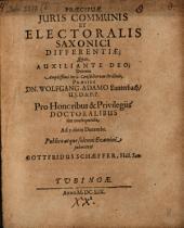 Praecipuae juris communis et electoralis Saxonici differentiae