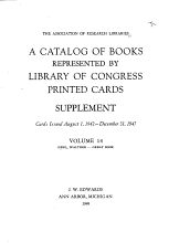 A Catalog of Books Represented by Library of Congress Printed Cards Issued to July 31  1942 PDF