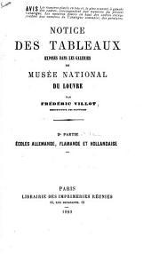 Notice des tableaux exposés dans les galeries du Musée National du Louvre