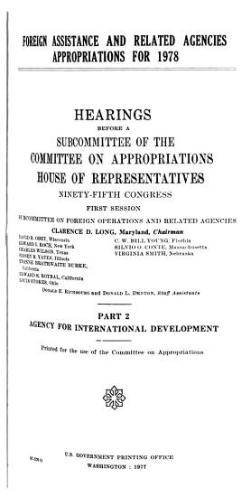 Foreign Assistance and Related Agencies Appropriations for 1978 PDF