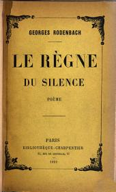 Le règne du silence: poème