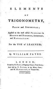 Elements of Trigonometry  Plain and Spherical PDF