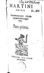 Grammaticae Graecae, cum Latina congruentis