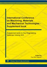 International Conference on Machining  Materials and Mechanical Technologies   Supplement book PDF